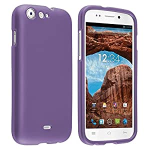 Rubberized Cover Compatible With BLU Life One L120, Purple