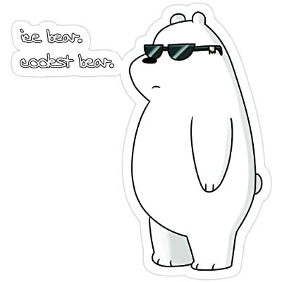 rangerpolocon ice Bear, Coolest Bear Stickers (3 Pcs/Pack) 4735757526236: Home & Kitchen