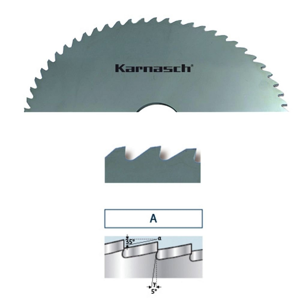 karnasch metal circular de metal sierra circular hoja de sierra HSS DIN 1837/a con /ángulo de feingezahnten dientes