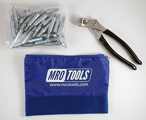 50 3/32 Cleco Sheet Metal Fasteners Plus Cleco Pliers w/ Carry Bag (K1S50-3/32) by MRO Tools Cleco Fasteners