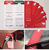 Electric Vehicle Charging Hang Tag Notice Bundle from EVANNEX