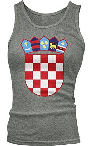 t of Arms of Croatia, Croatian Arms Tank Top, Deep Heather Medium ()