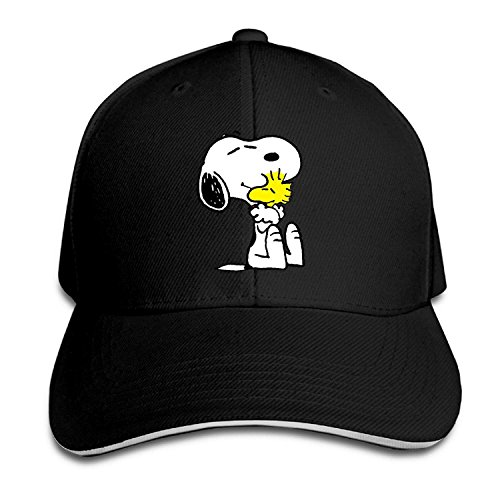 GlyndaHoa Unisex Snoopy Peanut Adjustable Snapback Baseball Cap Pink One Size -