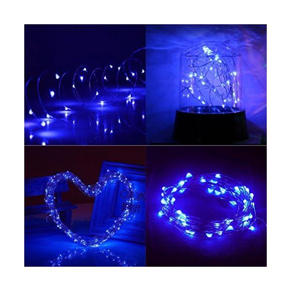 Ankway luci Stringa Solare, 200 LED 8 Modi Lunghezza 22M/72ft, Luci Energia Solare Impermeabili Interni e Esterni per Giardino Natale Matrimoni e Feste,Blu 2 spesavip