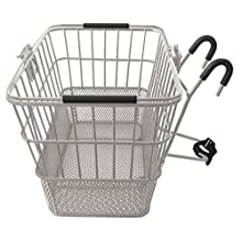 Mesh Bottom Lift-Off Basket w/ Bracket, Silver