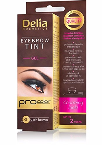 Amazon Com Delia Henna Eyebrow Tint Gel Dark Brown Beauty