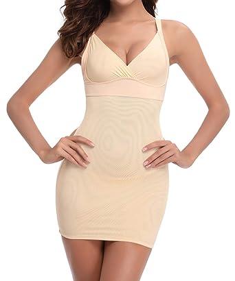 ff62921c60d FLORATA Shapewear Slip for Women Plus Size Full Slips Under Dress Long Cami  Seamless Body Shaper Slimmer at Amazon Women's Clothing store:
