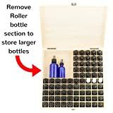 Essential-Oil-Wooden-Box-Storage-Case-Protects-87-100-Bottles-Roller-Balls-Large-Organizer-includes-Removable-Foam-Padding-and-EO-Labels-Keep-Your-Oils-Safe-Protected