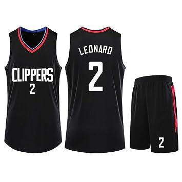 YYAWS Los Angeles Clippers 2 Camisetas De Baloncesto,Kawhi Leonard Deportes De Verano Uniforme De Baloncesto,Uniformes de Baloncesto para Adultos y ...