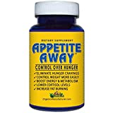 APPETITE AWAY Appetite Suppressant Weight Loss Supplement - 60 Caps - 6 Pack