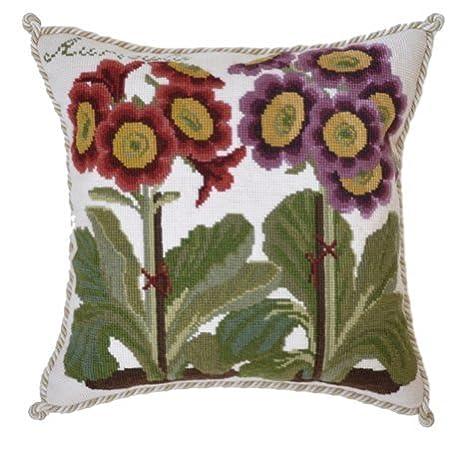 Elizabeth Bradley Home Needlepoint Pillow (Cream)