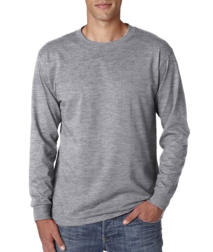 JERZEES Heavyweight Blend Long Sleeve Tee - Oxford M