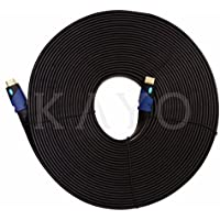 FLAT HDMI Cable- 50 FT,High Speed HDMI Cable (15m) Flat Wire- CL3 Rated Supports 4K,Ultra HD,3D,2160p,1080p,Ethernet & Audio Return (Latest HDMI 2.0b Standard) HDCP 2.2 Compliant,Bonus CABLE Tie