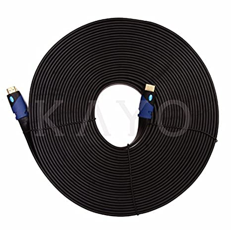 Amazon.com: FLAT HDMI Cable- 50 FT,High Speed HDMI Cable (15m) Flat ...