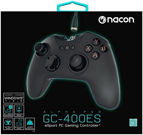 Nacon - PCGC-400ES Mando Gaming E-Sports Con Cable Con Modo Pro Gamer Que Emula Teclado Y Ratón (PC)