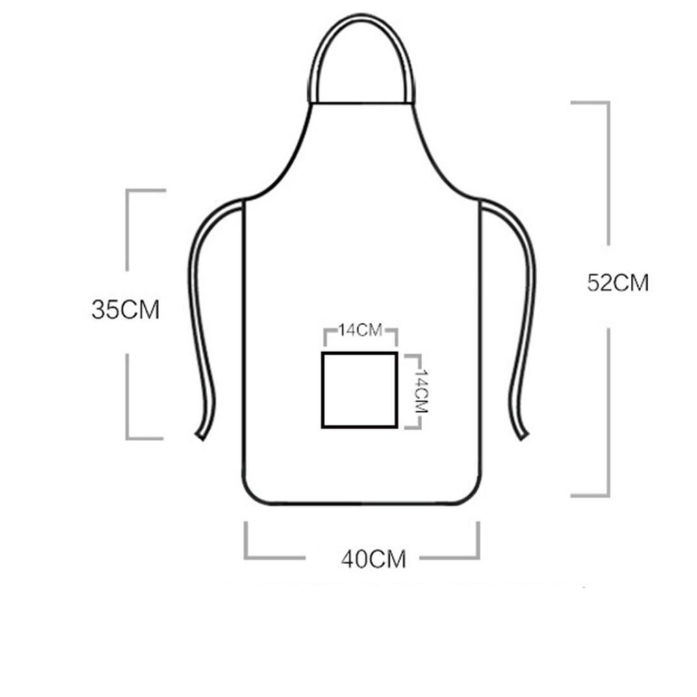 TAOtTAO - Delantal Impermeable para Cocina, diseño de Dibujos Animados, H, 52 * 40CM: Amazon.es: Deportes y aire libre