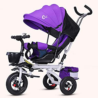LINGS Foldable Bicycle Kids' Bikes Shock Absorber Child Stroller Tricycle flip seat Reclining Baby Bicycle Bike Foldable 1-3-5 Years Old: Home & Kitchen