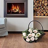 Amagabeli Fireplace Log Holder Indoor Black