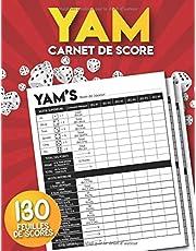 Yam: Carnet de scores: 130 Feuilles de Scores | Yams Grille de score | yahtzee bloc de marque.