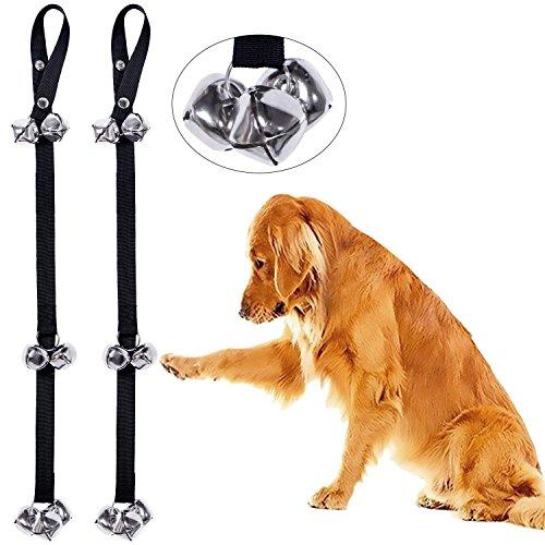 CandyHome 2 Pack Potty Doorbells Housetraining Dog Doorbells Tinkle Bells for House Training, Dog Bell with Doggie Doorbell (Black)