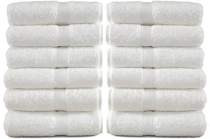 5x 100/% Cotton Square Hand Face Bath Towels 44cm x 44cm Colour Mix Pack AU STOCK