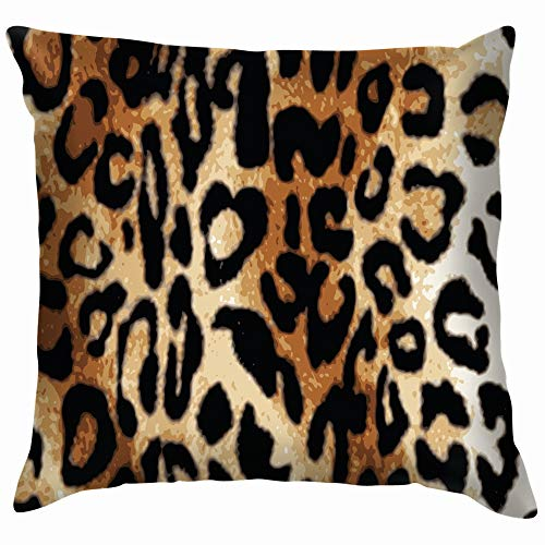 Animal Skin Leopard Animals Wildlife Throw Pillow Case Cushion Cover Pillowcase Watercolor for Couch 24X24 Inch
