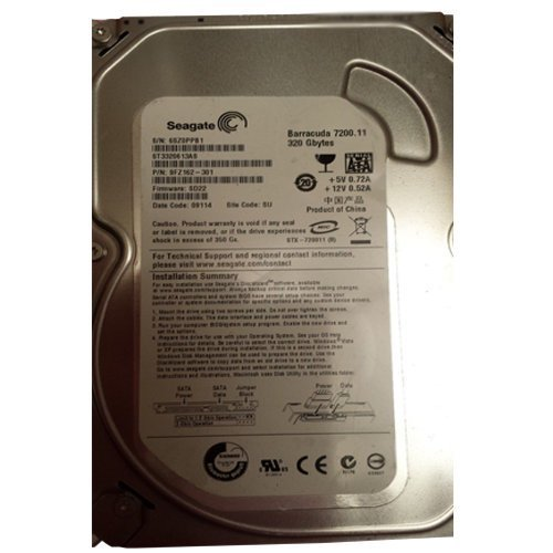 ST3320613AS SEAGATE BARRACUDA-7200.11 320GB 7200RPM INTERNAL 3.5INCH SATA-300 BUFFER: 16 MB HARD DRIVE ()