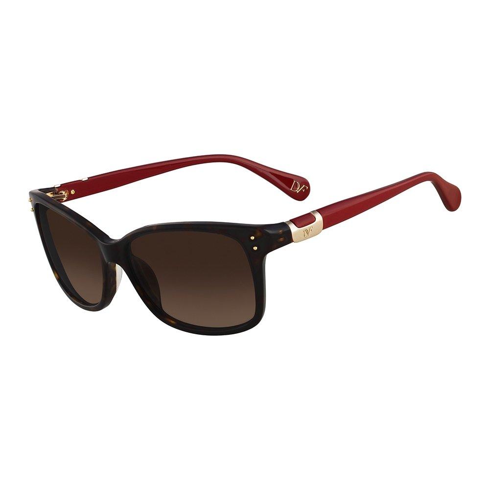 Amazon.com: Dvf anteojos de sol 568s Layla 206 Carey oscuro ...