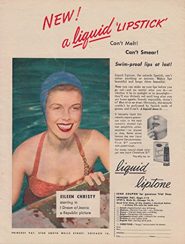 eileen-christy-in-i-dream-of-jeannie-for-liquid-liptone-lipstick-ad-1952