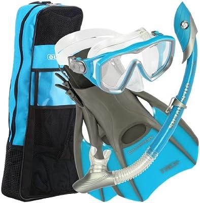 US Divers 241030 - Pack de Buceo (Aletas, Mujer, Correa, Ajustable ...