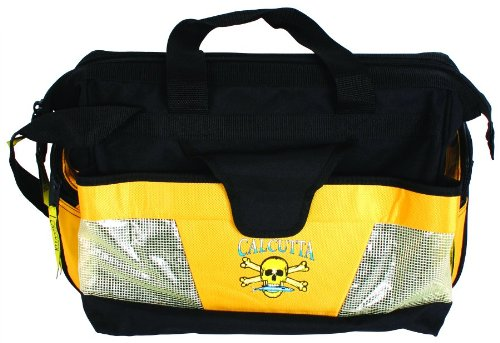 Cheap Calcutta Black and Yellow Wide Mouth Tackle Bag with 2 Each 370 Trays