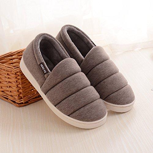 Accueil LaxBa Semelle chaussons Chaussures Parole agréable Padded Mesdames moelleux Cotton Brown de qvv5r