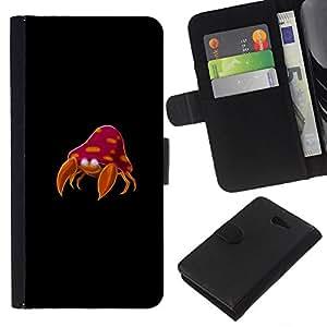 // PHONE CASE GIFT // Moda Estuche Funda de Cuero Billetera Tarjeta de crédito dinero bolsa Cubierta de proteccion Caso Sony Xperia M2 / Poke Monster Crab /