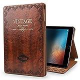 iPad Pro 10.5 Case,JGOO ''Magic World Series'' Vintage Book Style Silm PU Leather Smart Case w/ Auto Sleep Wake & Multi Angle Stand for Apple iPad Pro 10.5 Inch 2017,Brown
