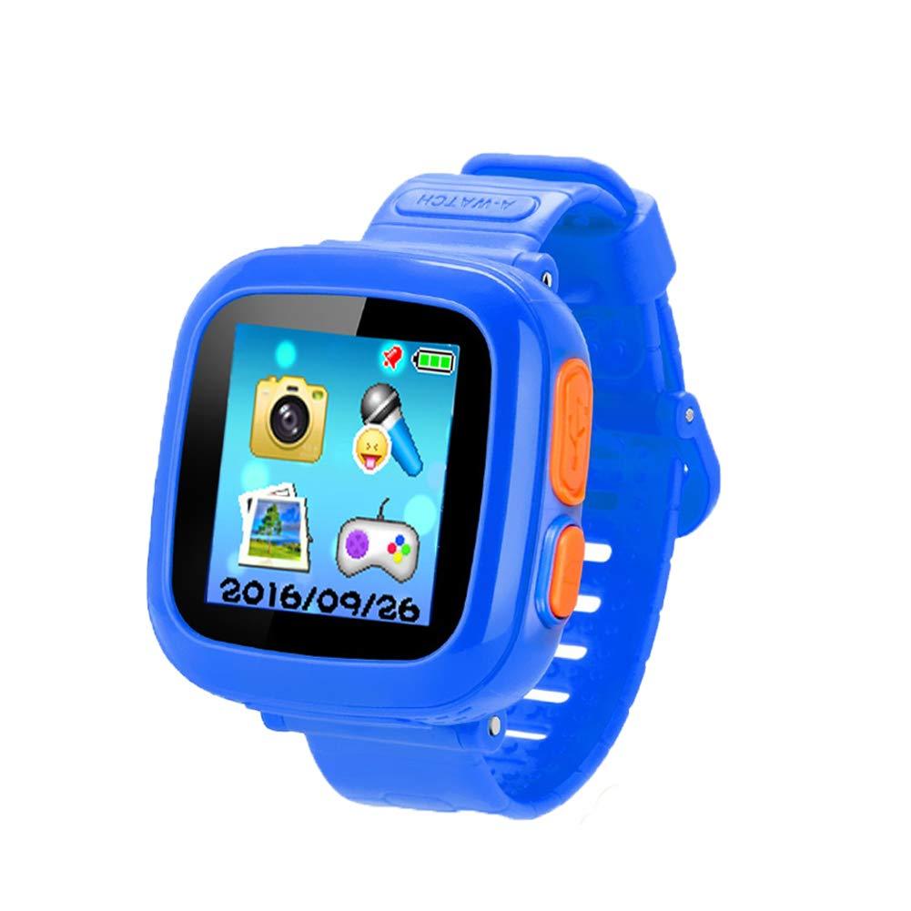 ゲームSmart Watch forキッズ、子供用スマートウォッチカメラ、子供の腕時計歩数計時計スマートウォッチ男の子女の子ギフト、HDタッチ画面、超低放射ゲームWatch。(ブルー) ブルー  ブルー B078XCYDHM