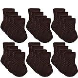 Floor Protectors for Furniture Legs Chair Socks, Outgeek 24 Pack Knitted Furniture Feet Socks Chair Leg Floor Protectors (Brown)