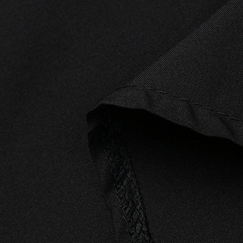 De LULIKA PlissE Midi Travail Mini Noir Fille Femmes Elastique Court Bureau VasE Casual Jupe Retro Femmes Solide Jupe Longueur Genou rqOCrTZxw4