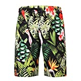 NUWFOR Men's Summer Fashion 3D Printed Shorts Recreational Sports Beach Pants(Black,US XS Waist:27.95'')