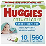 Huggies Natural Care Refreshing Baby Wipes, Scented, 10 Flip-top Packs (560 Wipes Total) 560 count
