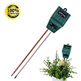 Robert JC Soil Tester, 3-in-1 Plant Moisture Sensor Meter/Light/pH Tester for Home, Garden, Lawn, Farm, Indoor & Outdoor Use, Promote Plants Healthy Growth (No Battery Needed)