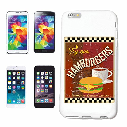 "cas de téléphone iPhone 7 ""DINER ROUTE 66 HAMBURGER COFFEE CHEESEBURGER FAST FOOD DIET MINCEUR CALORIES FIGURE FITNESS BMI FAT COVER DICK THIN FIGURE SOULIGNE BELLY PORTÉE"" Hard Case Cover Téléphone C"