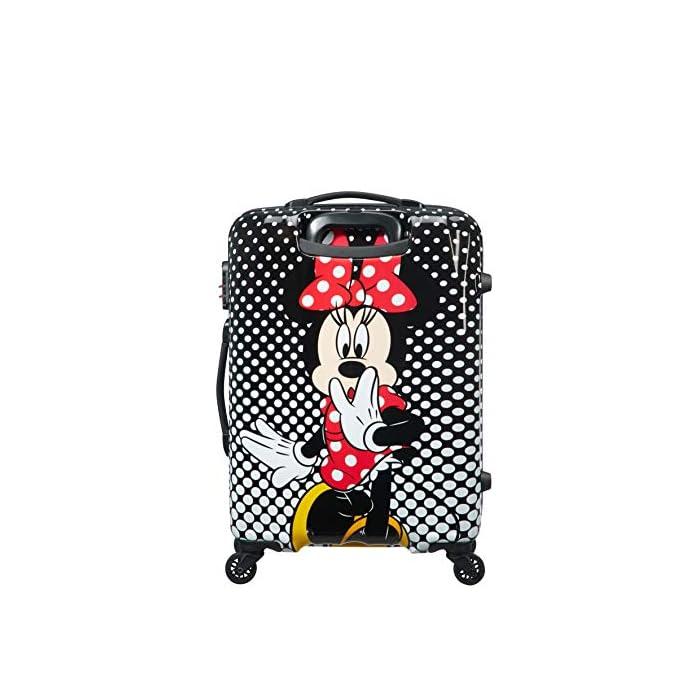 5198mcsyACL Disney Legends Spinner 65 Alfatwist: 45.5 x 27.5 x 65 cm - 62.5 L - 3,40 kg Cerradura fijo con combinación de 3 dígitos para añadir seguridad Divertida serigrafía de Disney con acabado brillante y forro de color a juego