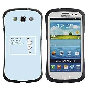 Suave TPU GEL Carcasa Funda Silicona Blando Estuche Caso de protección (para) Samsung Galaxy S3 I9300 / CECELL Phone case / / Exercising Workout Traing Running Funny Quote /
