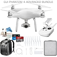 DJI Phantom 4 Advanced Drone Bundle (DJI CP.PT.000689): Includes Hard Shell Backpack, High Speed 32GB Ultra MicroSD Card and more...