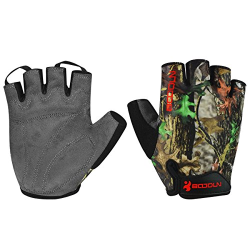 Mumian Cycling Gloves with Shock-Absorbing Foam Pad Breathable Half Finger Bicycle Gloves Bike Gloves