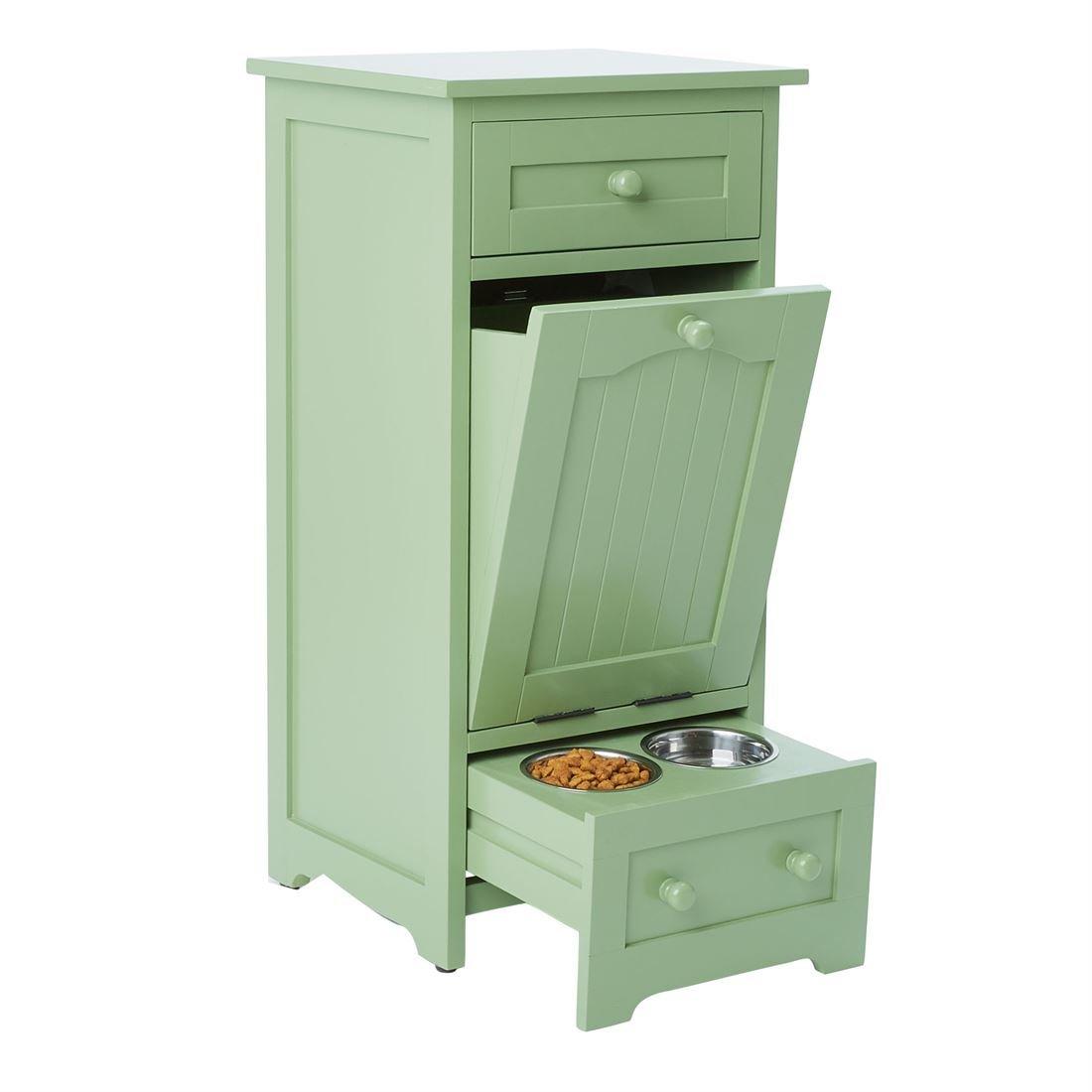 BrylaneHome Pet Food Storage Cabinet Green