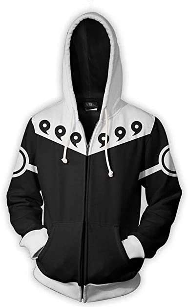 New Anime Gray Hoodie Men Women Zip Jacket Coat Sweater