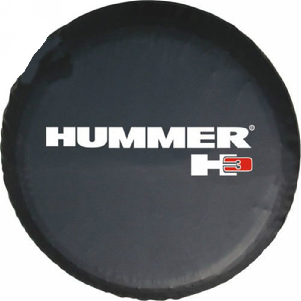 PVC Leather Classic Accessories Overdrive Universal Fit For Hummer H3 Spare Tire Cover Black 9 Jin