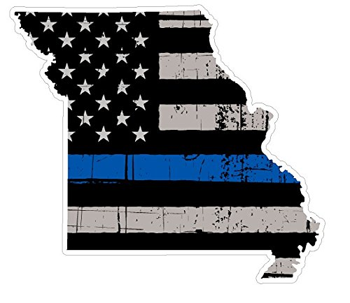 Missouri State (V26) Thin Blue Line Vinyl Decal Sticker Car/Truck Laptop/Netbook Window