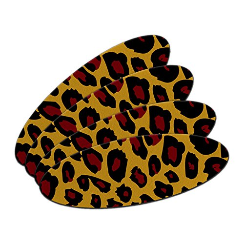 Leopard Animal Print Double-Sided Oval Nail File Emery Board